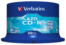 Диск CD-R Verbatim 700Mb 48x DataLife+ Cake Box (50шт) 43343