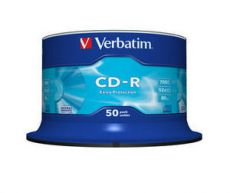 Диск CD-R Verbatim 700Mb 52x Cake Box DataLife (50шт) 43351