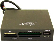 Картридер Acorp CRIP200-B black